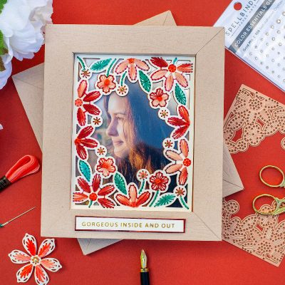 Die – Cut Embroidered Frame Spellbinders Kits May 2021 Inspirational Blog Hop
