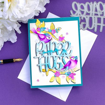 SSS Spring Birds and  Paper Hugs Watercolour Card