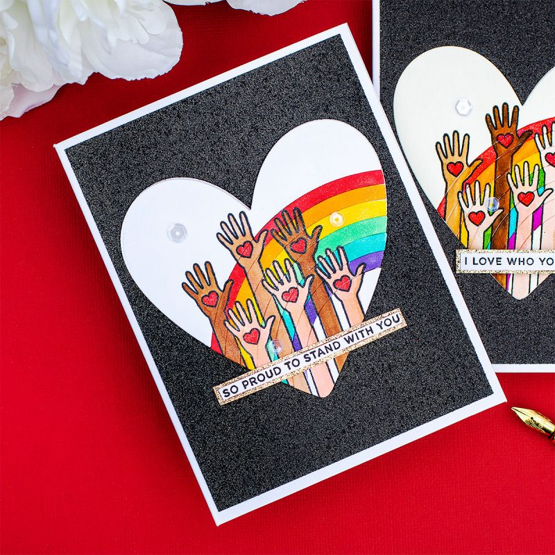 So Proud to Stand With You Rainbow Card  #PrideMonth
