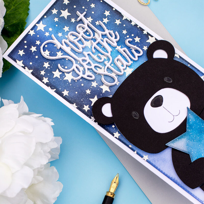SSS Shoot For the Stars Slimline Card +  Picture Book Bear
